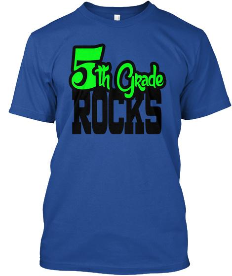 5th Grade Rocks Deep Royal T-Shirt Front