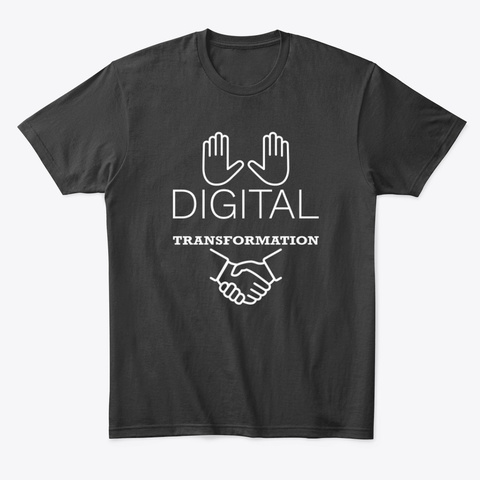 Digital Transformation Black T-Shirt Front
