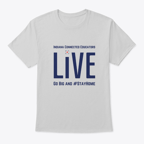 In Connected Ed Live Merch Light Steel T-Shirt Front