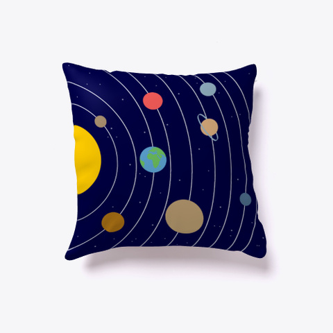 Solar System Indoor Pillow Dark Navy T-Shirt Front