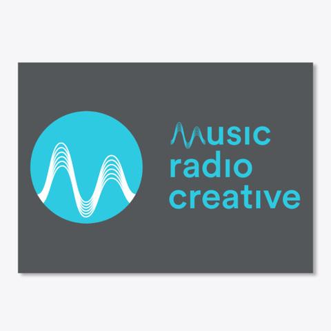 Music Radio Creative Sticker Dark Grey T-Shirt Front