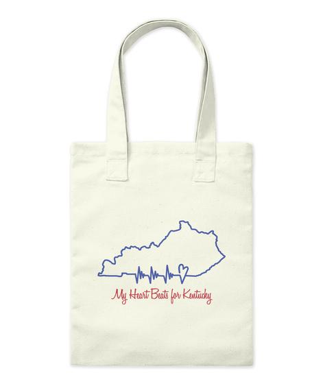 My Heart Beats For Kentucky Natural T-Shirt Front