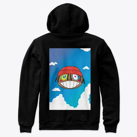 Head In The Clouds Scky Black T-Shirt Back