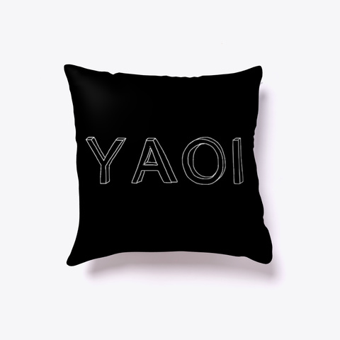 Simplistic Yaoi Pillow Black T-Shirt Front