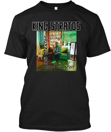 King Stratos Ing Stratos King Stratos Black T-Shirt Front