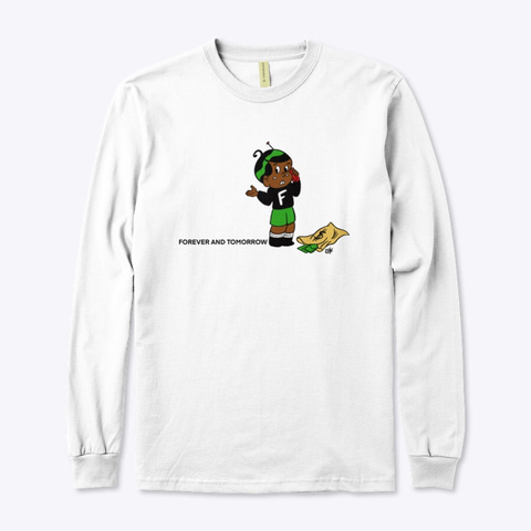 Money Callin' White Long Sleeve Tee White T-Shirt Front