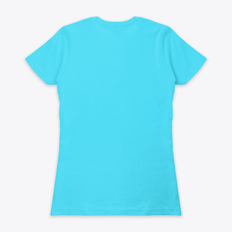 Fuck This Knit Logo Women's Tee Tahiti Blue  Camiseta Back