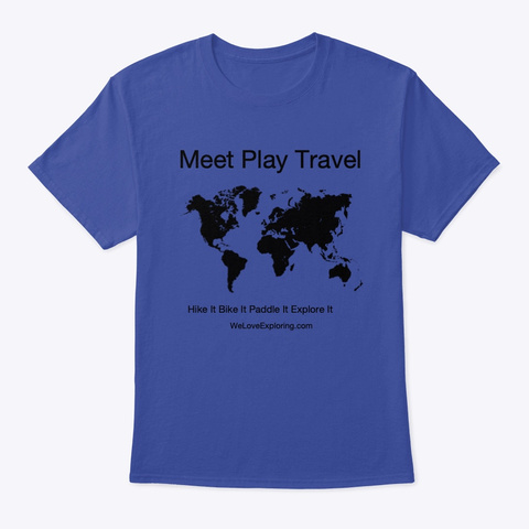Explore It Deep Royal T-Shirt Front