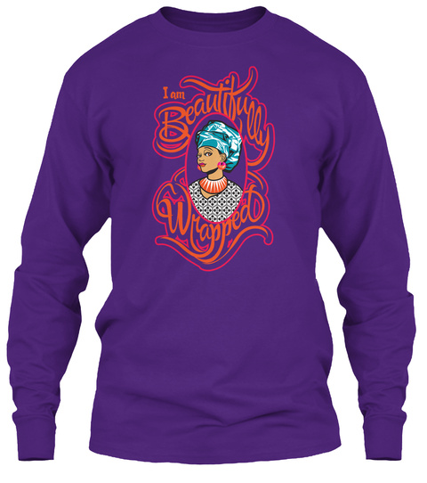 Beautifully Wrapped  Queendom Tee Purple T-Shirt Front