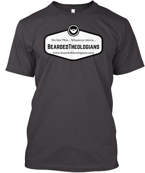 New Bearded Theologians Graphic Heathered Charcoal  T-Shirt Front
