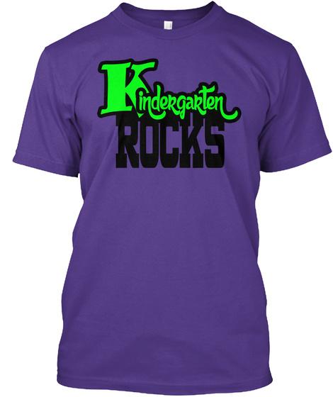 Kindergarten Rocks  Purple T-Shirt Front