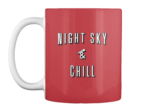 Night Sky And Chill Mug [Usa] #Sfsf Bright Red Mug Front