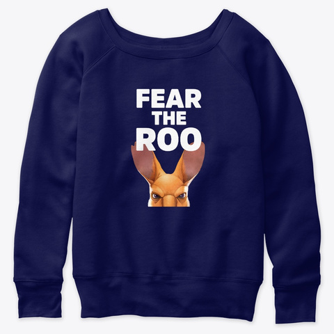 Fear The Roo   New And Improved Navy  T-Shirt Front