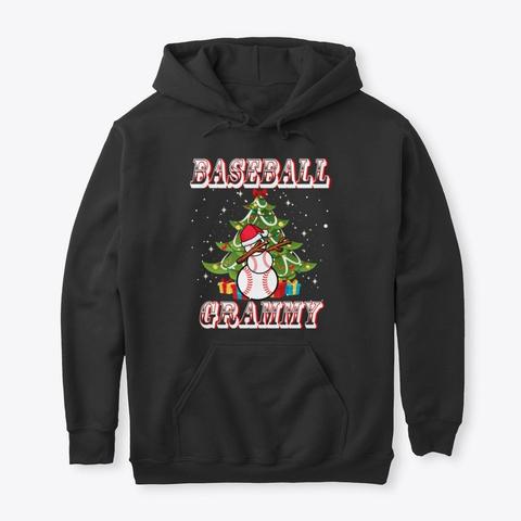 Christmas Baseball Grammy Snowman Shirt Black T-Shirt Front