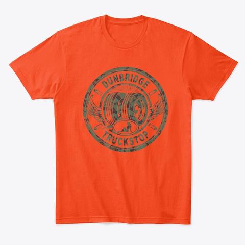 Dog Will Hunt Deep Orange  T-Shirt Front
