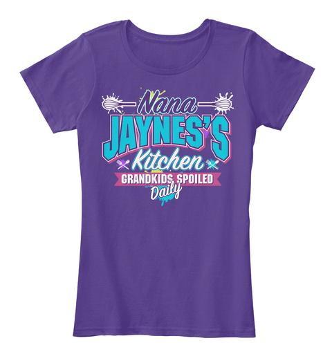 Nana Jaynes's Kitchen Purple T-Shirt Front