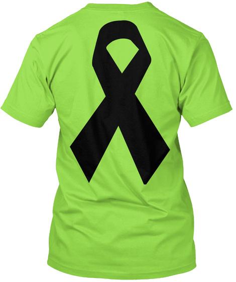 Let's Fight Cancer Together Lime T-Shirt Back