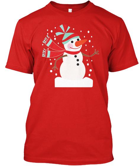 Snowman Christmas T Shirt #Boosted Eu Red T-Shirt Front