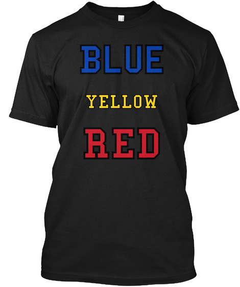 Blue Yellow Red Black T-Shirt Front