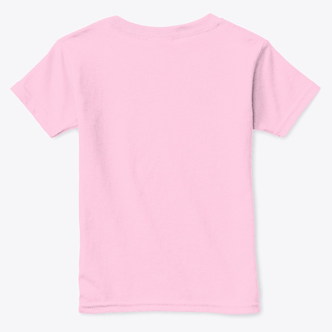 Fruits Are Yummy   Toddler Tee Shirt Light Pink  T-Shirt Back