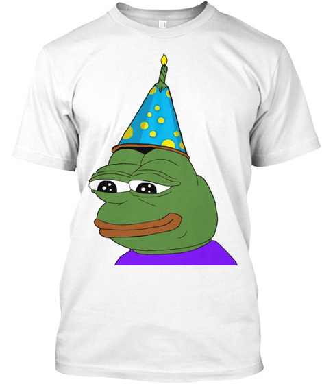 Pepe The Frog's Birthday T Shirt T-Shirt Front