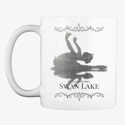 Swan Lake On White White T-Shirt Front