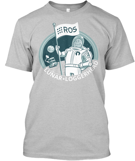 Ros Lunar * Loggerhead Light Heather Grey  T-Shirt Front