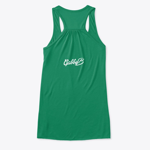 "White ""Gabby B"" Logo Kelly T-Shirt Back"