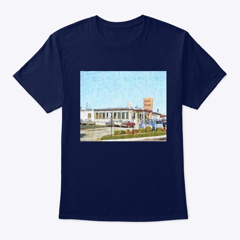 The Iconic Somers Point Nj  Diner Navy T-Shirt Front