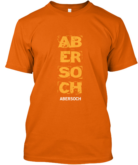Ab Er So Ch Abersoch Orange T-Shirt Front
