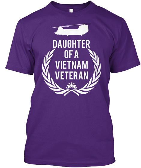 Daughter Of A Vietnam Veteran Purple T-Shirt Front