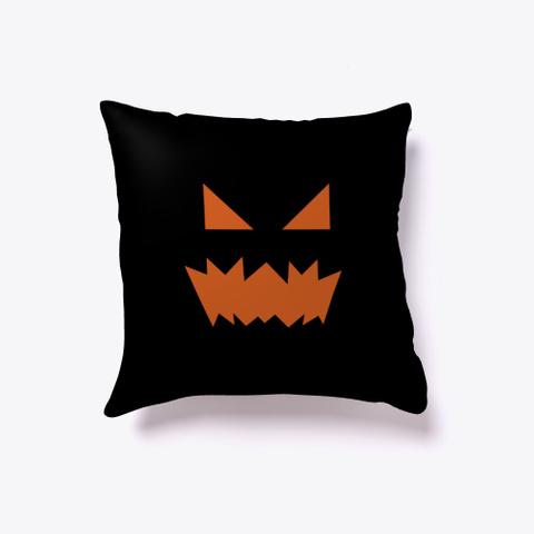 Geometric Halloween Pumpkin Black T-Shirt Front