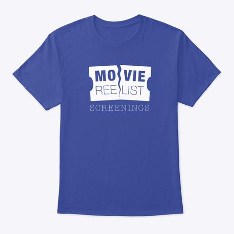 Movie Reelist Screening Tee Deep Royal T-Shirt Front