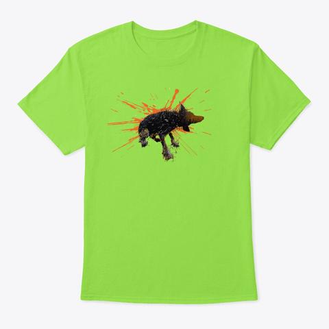 Shake It Wet Border Collie Art Lime T-Shirt Front