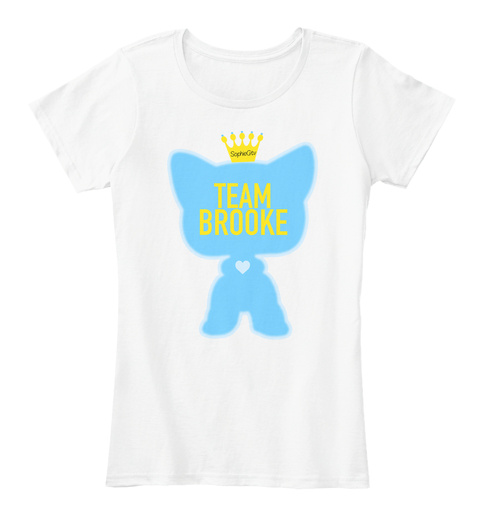 Team Brooke White T-Shirt Front