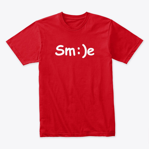 Smile   Sm:)E Red T-Shirt Front