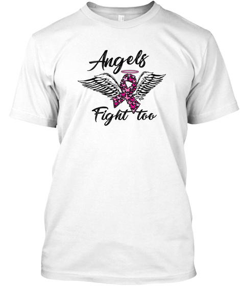 Breast Cancer Awareness Art For Warrior White T-Shirt Front