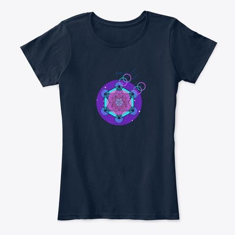 Metatrons Cube New Navy T-Shirt Front