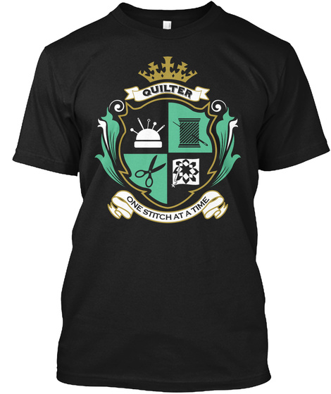 Ts Quilter   One Stitch Black T-Shirt Front