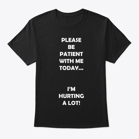 Hurting Today Black T-Shirt Front