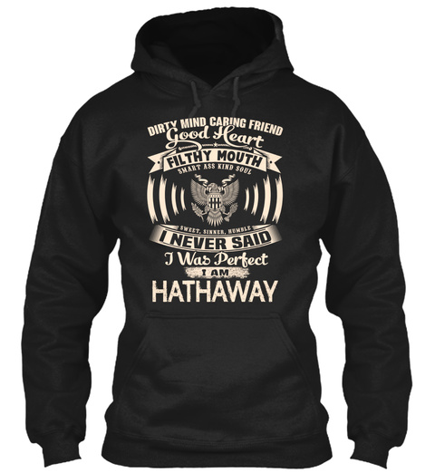 Hathaway Name Perfect Black T-Shirt Front