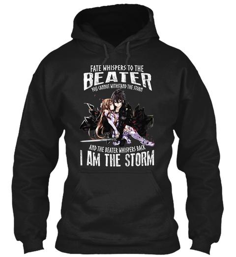 Sword Art Online Kirito Beater Black T-Shirt Front