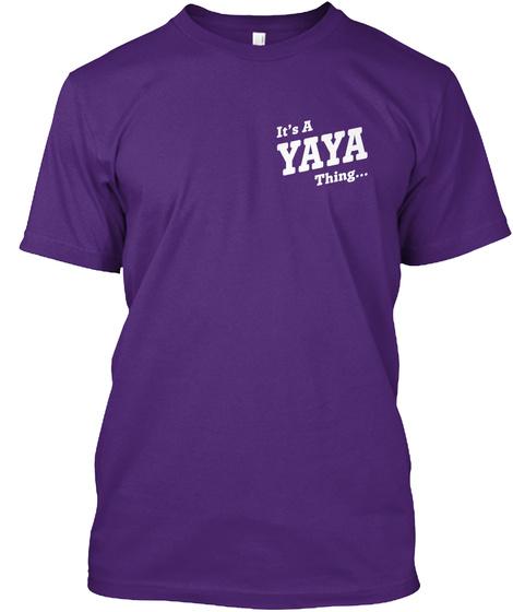 It's Yaya Thing... Purple T-Shirt Front