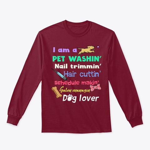 Dog Groomer Gift Shirt Pet Grooming Fun Cardinal Red T-Shirt Front