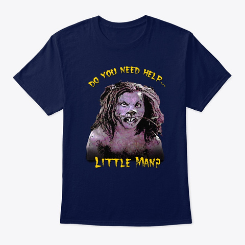 Wow   Rat Monster Apparel!  Navy T-Shirt Front