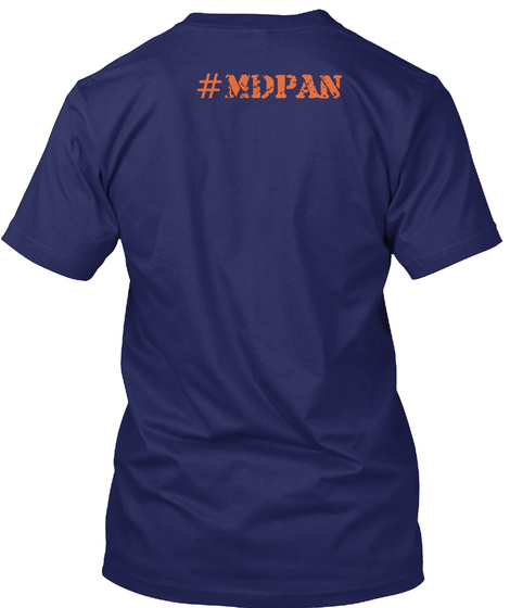 #Mdpan Navy T-Shirt Back