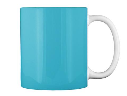 Dolphin Mug Turquoise T-Shirt Back