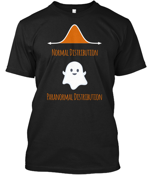 Paranormal Distribution Halloween Black T-Shirt Front