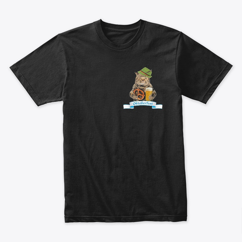Oktoberfest 2019 Flag   Cat Pocket Black T-Shirt Front