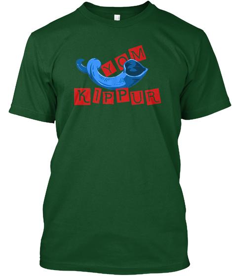 Yom Kippur  T Shirt Deep Forest T-Shirt Front
